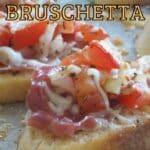 baked cheese bruschetta