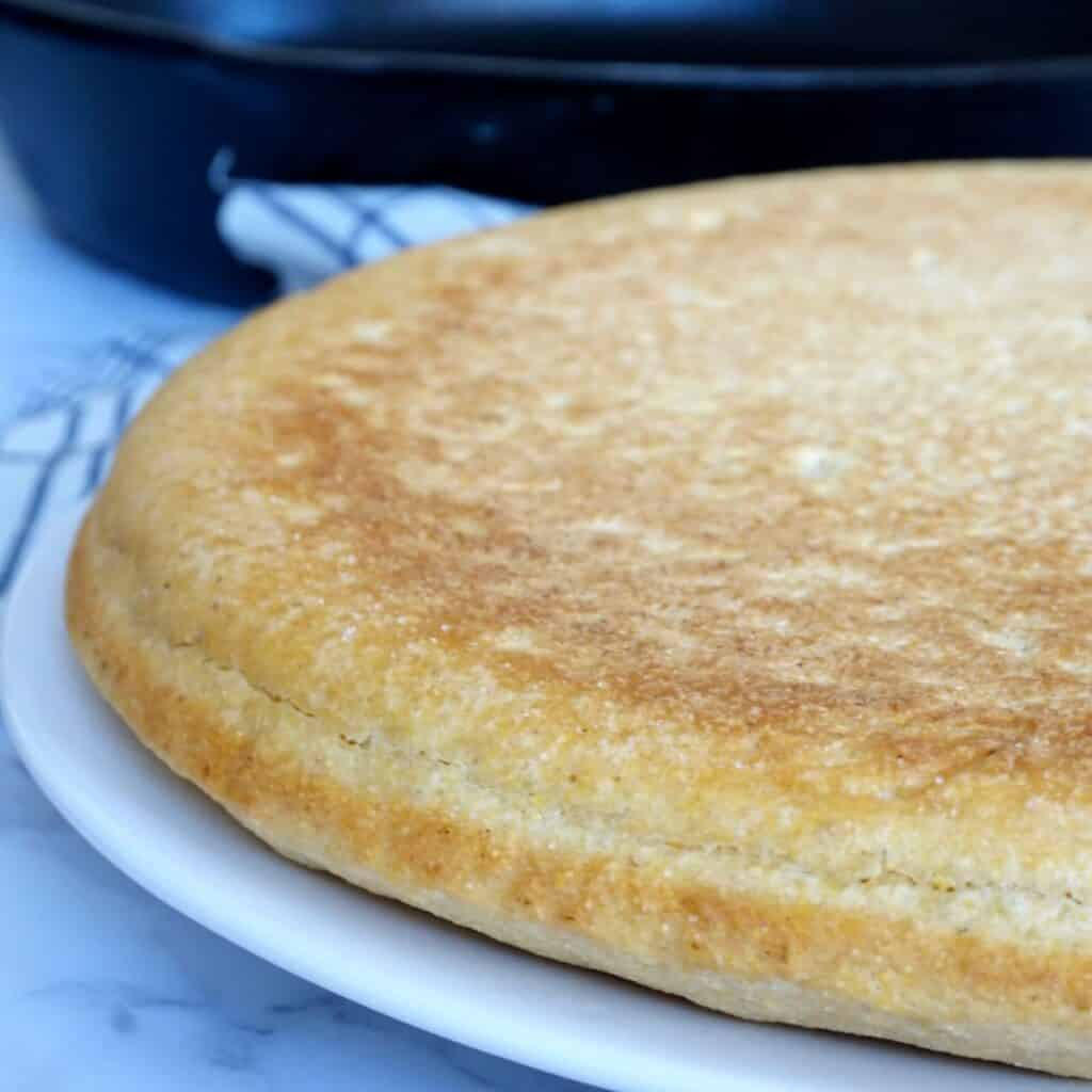 southern cornbread on a plate