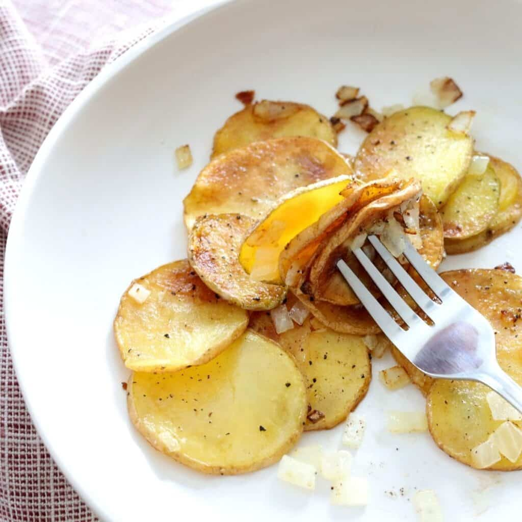 southern fried potatoes and onions