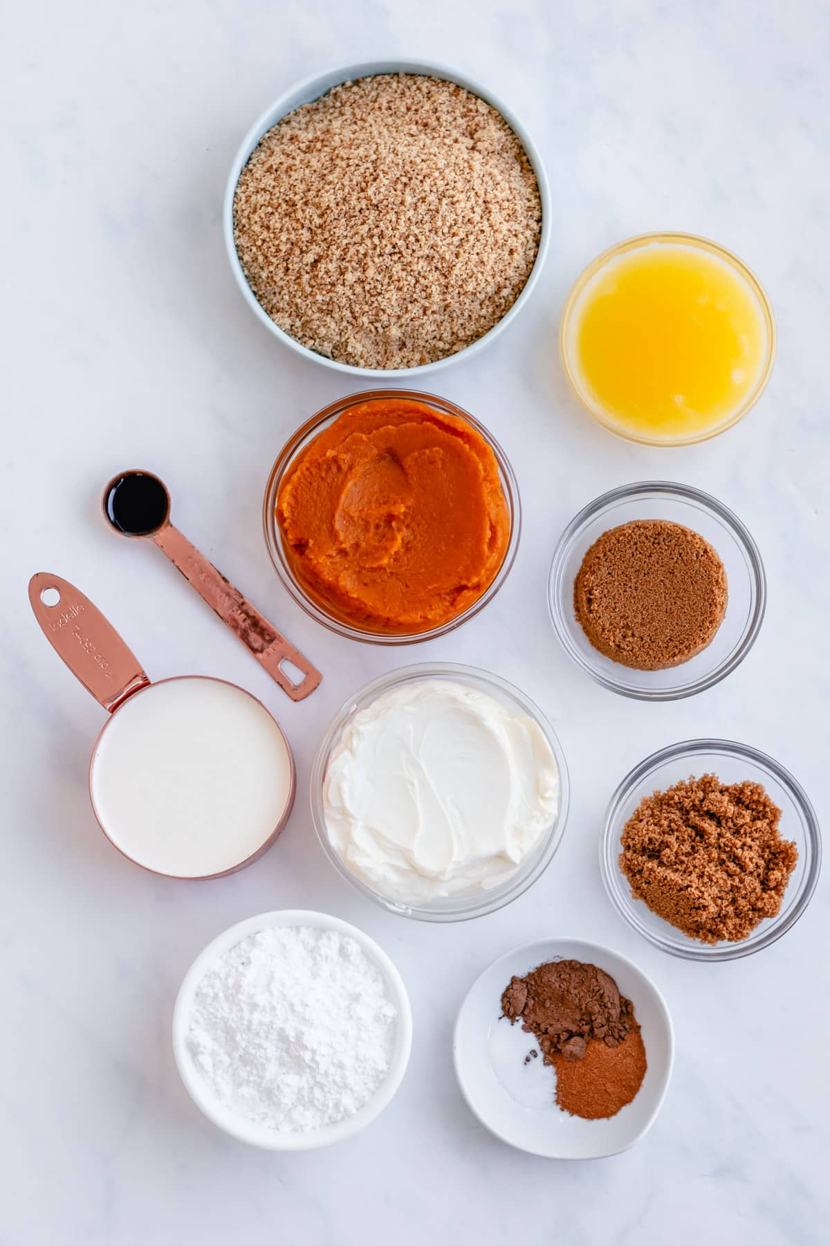 ingredients for pumpkin pie bars