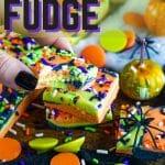 easy Halloween party fudge