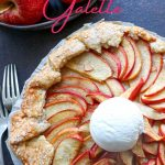apple galette with ice cream on top