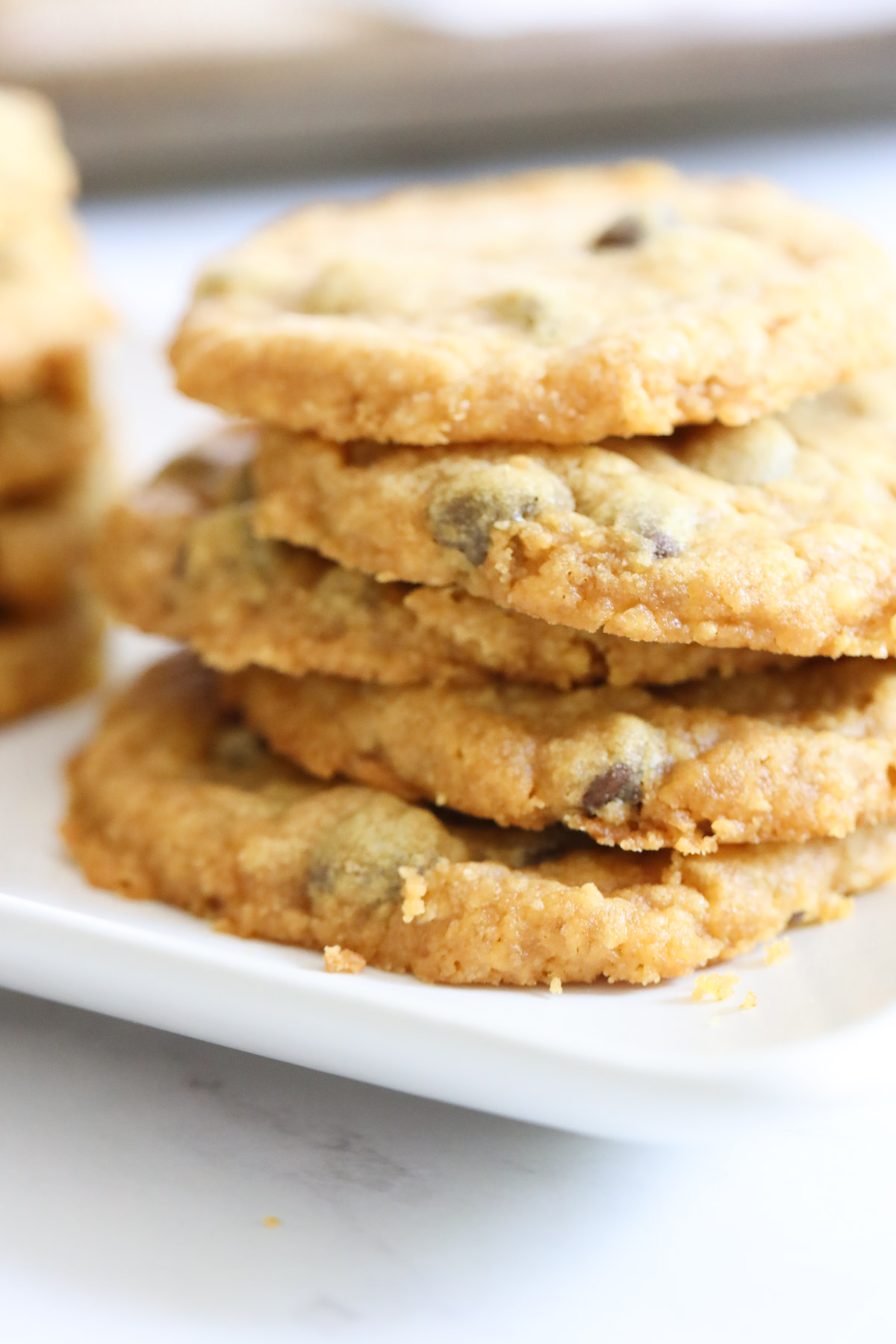 Stack of cookies on a plate