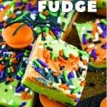 halloween fudge with sprinkles