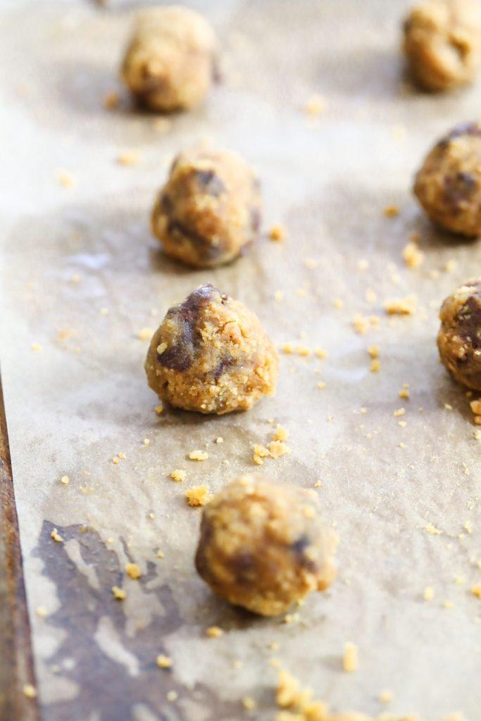 form cookies into balls