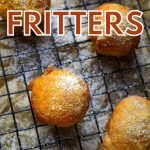 pumpkin fritters dusted with powdered sugar