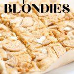 pan with pumpkin Oreo blondies