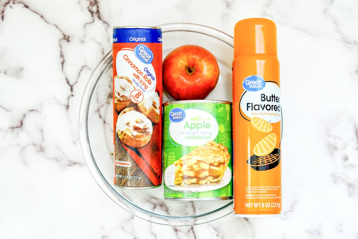 ingredients for apple cinnamon cobbler