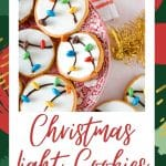 Christmas light cookies with m&ms