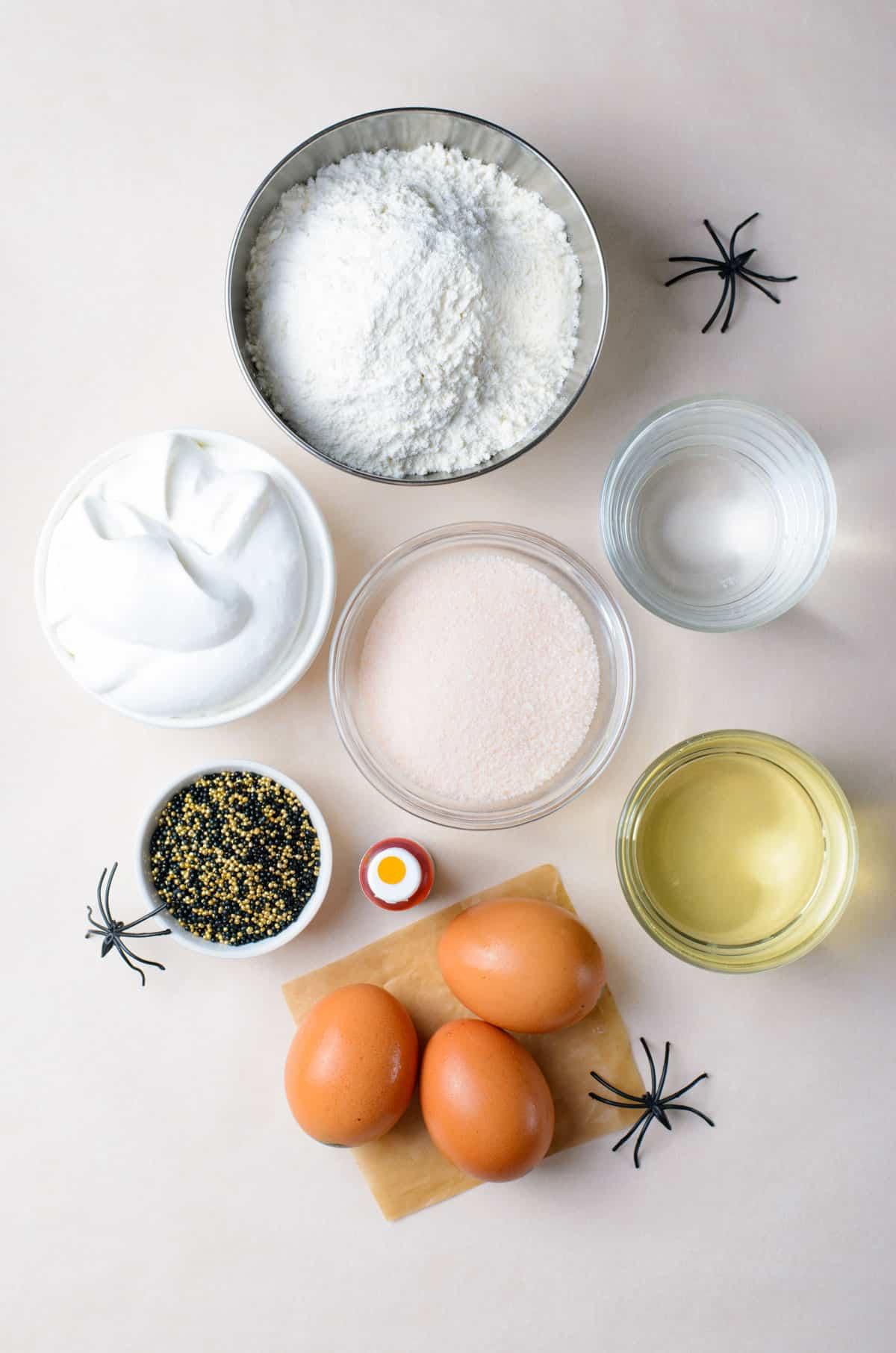ingredients for orange poke cake