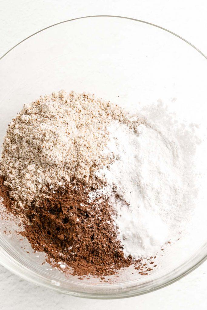 flour mixture including almond flour, tapioca, and baking powder