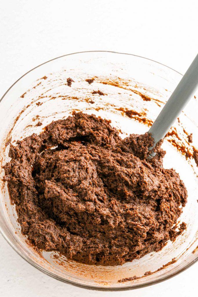 add dates mixture to almond flour mixture