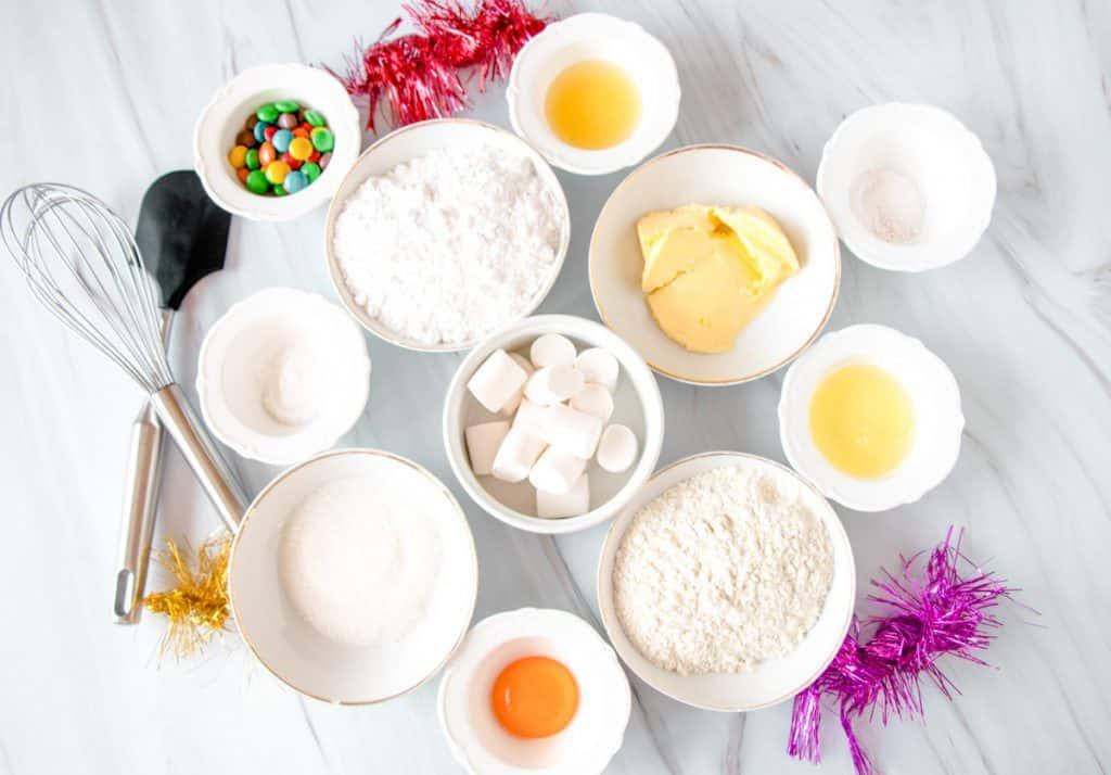 ingredients for snowman cookies
