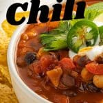 smoky chili with beans and jalapeño